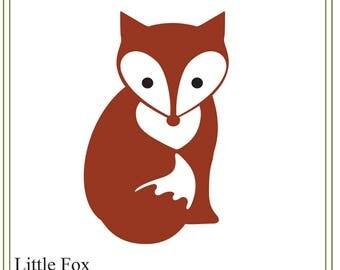 Fox SVG, Little fox illustration SVG, greeting cards, party invitations svg, iron on transfer svg, fox download illustration, children's svg