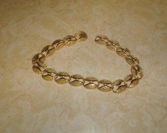 vintage necklace choker goldtone chain links