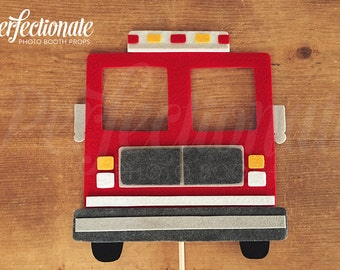 Fire Truck Photo Booth Props | Fireman Props | Fire Fighter Prop