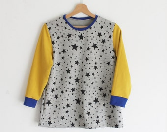 Teen clothes, teen sweaters, teen sweatshirts, teen girl gift, stars sweatshirts, teen gifts, petite size sweater, sustainable clothing
