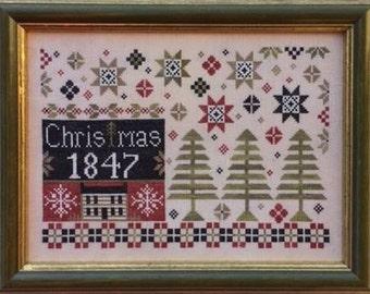 Coverlet Christmas Nashville Market 2017 The Scarlett House cross stitch pattern