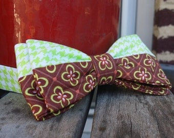 Brown and Green Bow Tie