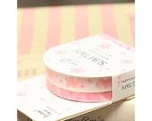 Cherry Blossom and Mini Hearts Washi Tape Set