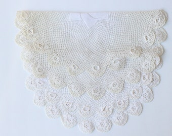 Vintage White Crotchet Doilies Set of 2
