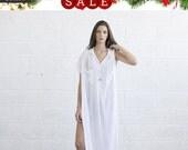 Pre Order 50 OFF Christmas Sale Summer sale -Long White Kaftan Dress.