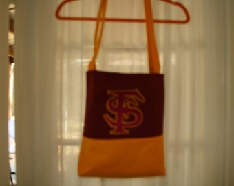 Tote bag in garnet and gold for FSU fans
