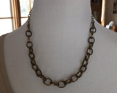 Beautiful brass chain necklace one of a kind