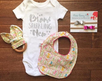 Brand Sparkling New Baby Girl Bodysuit Coming Home Outfit