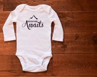 Adventure Awaits Baby Bodysuit Gender Neutral