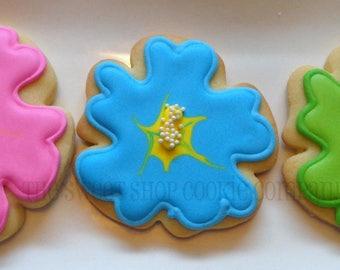 Hibiscus Flower Cookies 2 dozen