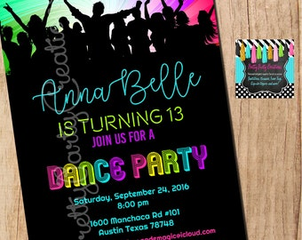 DANCE PARTY invitation - YOU Print