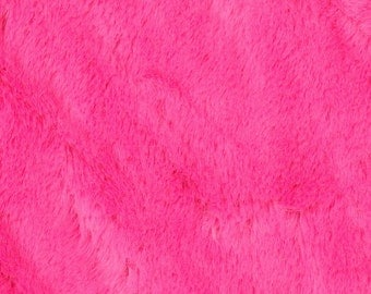 Fuschia Soft Cuddle Minky - Hot Pink Minky - by the half yard or yard cut -  The Minky with a Faux Fur Feel