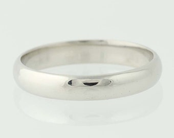 Men's Wedding Band - Platinum Rounded Face Ring Size 11 N5111