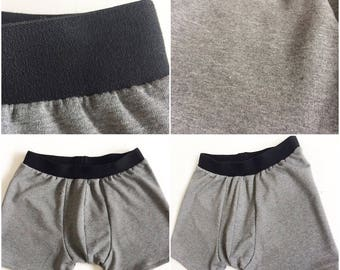 Organic Terry Cotton Mens Boxers With Cotton Elastic Waist Band