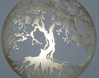 Tree Of Life, Wall decor, Metal Art - GOLDEN Look, 100 cm,40 inches