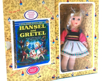 Little Golden Book Doll Gretel of Hansel & Gretel IOB With Book