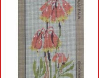 Floral Needlepoint Canvas: Christmas Bells (Flowers)