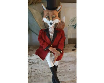 OOAK Folk Art Fox Doll