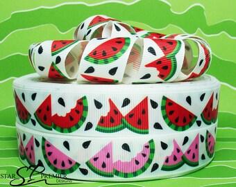 "7/8"" Watermelon Grosgrain Ribbon"