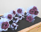 Custom Order for Andy and Sarah, Bridal Flowers, Paper Wedding Flowers, Origami and Rose Bouquets