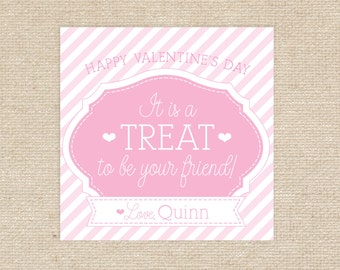 Printable Valentine Treat Tags