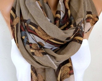 Milky Brown DRAGONFLY Printed Cotton Scarf, Summer Shawl,Pareo,Cowl Oversized Wrap Gift For Her Women Fashion Accessories,Birthday gift