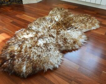 Sheepskin pelt Large rug Sheepskin rug Seat covers Natural sheepskin leather Sheepskin skin Soft rug Сhair covers Leather chair cover S2