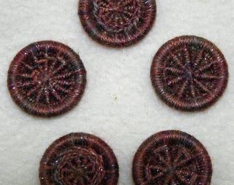 Sparkle Oak Dorset button kit mixed pack - 5 patterns, 10 buttons
