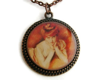 Redhead Pendant with Free Matching Necklace