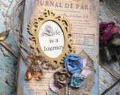 Vintage travel Journal  inspired Journal book / Diary