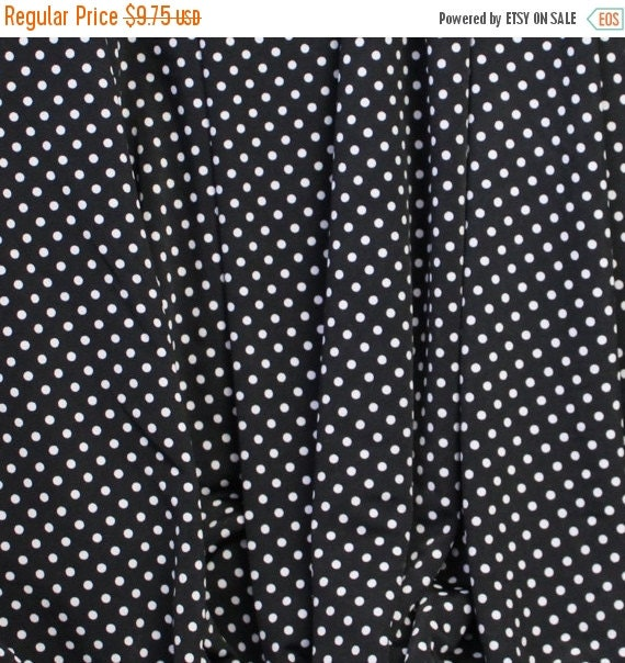 Stretch knit fabric,Modern knit fabric,Black and white polka dot fabric,Dress fabric,Blouse fabric,Apparel fabric,BTY