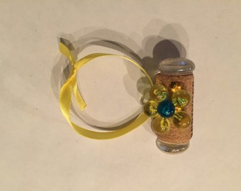 Yellow Flower Cork Ornament
