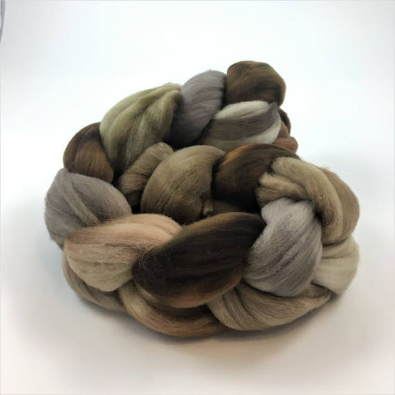 Merino Wool Roving, READY TO SHIP, 21.5 micron, 4 oz, Spinning fiber, Combed top, Wool felting fiber, Wool top, Soft wool roving, Himalayan