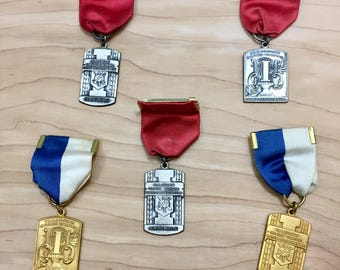 Instant Collection, Medals, Vintage Ribbons, Vintage Medals, Illinois Band Medals, Band Association, State Medals, District Medals, Band