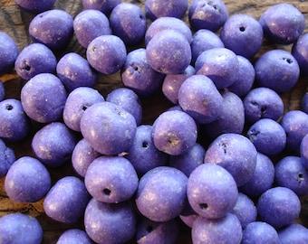 Moroccan  small purple mauve hand made round bead