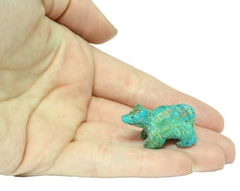 Turquoise Bear Carving