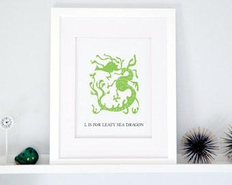 L is for Leafy Sea Dragon