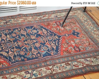 10% OFF RUG SALE Discounted 3.5x5.5 Antique Bijar Rug