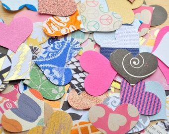 Assorted Hearts // Paper Hearts // Confetti // Decoration // Scrapbooking // Paper Crafting // Journals // Embellishment // Ephemera