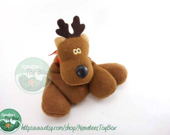 Rodney Reindeer: 1970s / 1980s Christmas Toy Plush