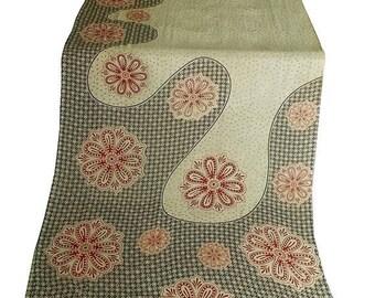10% OFF on Used Sari in creme  color , Dress  Making fabric sarong drape Sari