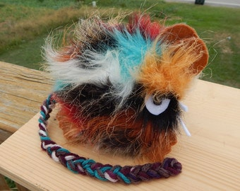 Hairy scary angry southwestern colors mouse attitude plush plushie