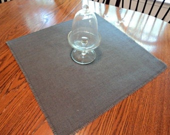 Set of 12 Colored Rustic Burlap Table Squares Over 20 Colors Available Burlap Overlay Burlap Centerpiece
