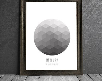 Mercury - The Smallest Planet - 8x10 DIGITAL PRINTABLE PDF