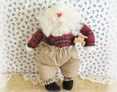 "Vintage Workshop Santa Ornament Collectable Creations 6"" Original Rare 1987 Portland, OR, Designed By Charlotte Colistro Brown, Judy Hoiland"