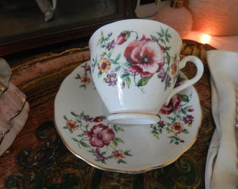 Vintage Colclough Bone China Made in England Tea Cup and Saucer