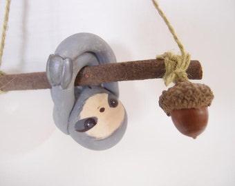 ooak Hand-made sloth ornament 52