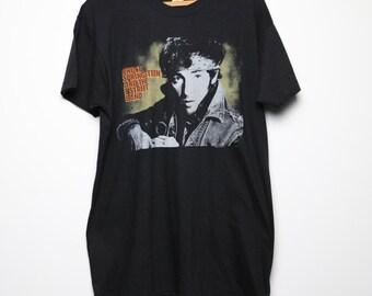 Bruce Springsteen Shirt Vintage tshirt 1985 Born In The USA World Tour concert tee 1980s Original