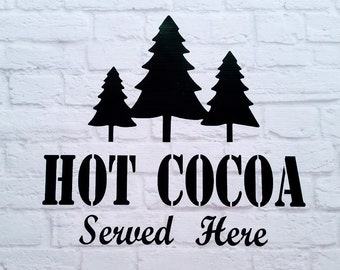 Hot Cocoa Christmas Vinyl Wall Decal