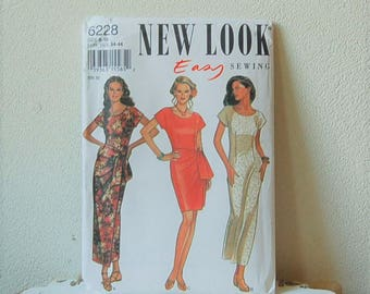 New Look 6228 Mock Wrap Dress  Size 8 18 UNCUT